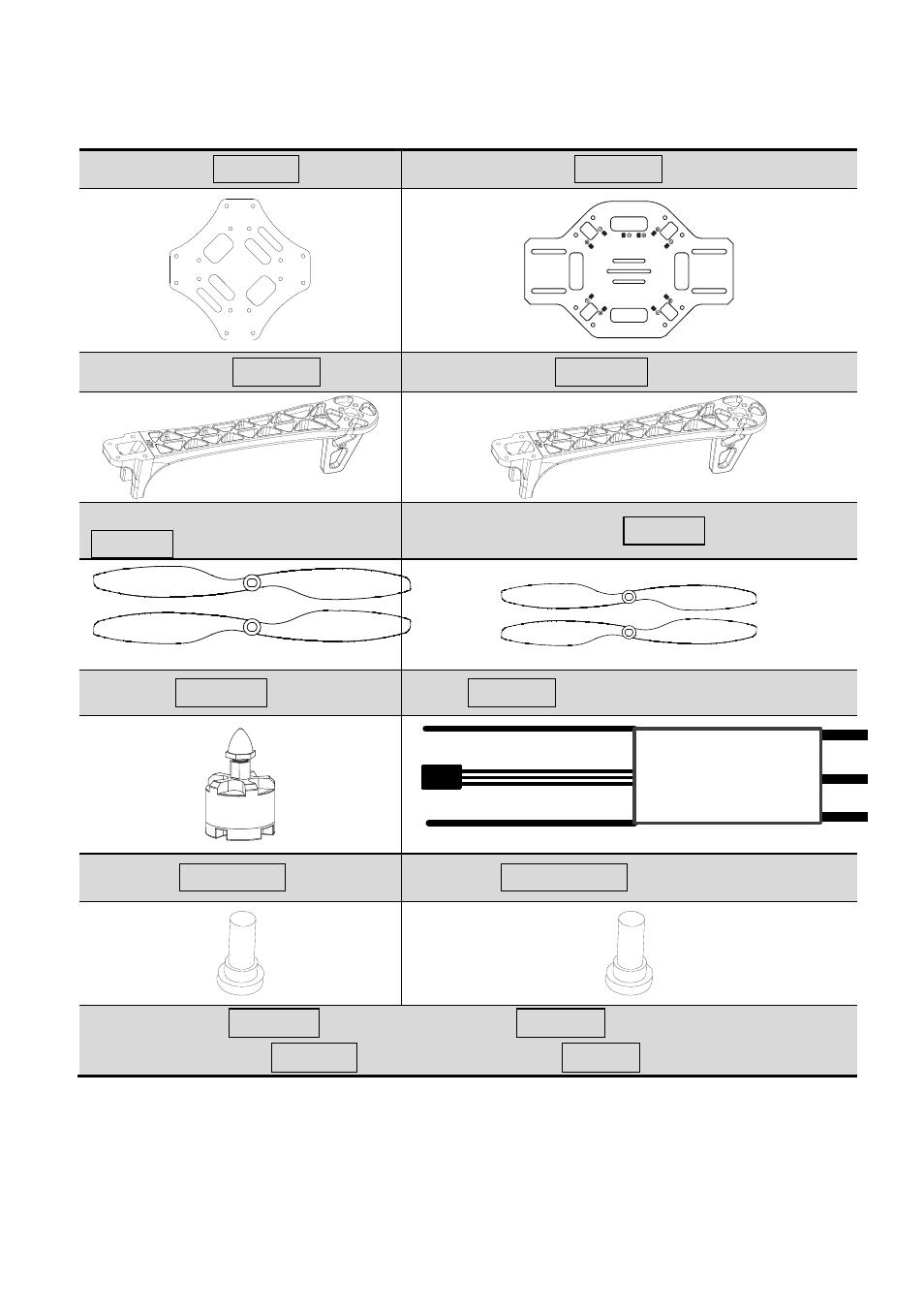 In box | DJI F450 v2 0 User Manual | Page 4 / 7 | Original mode