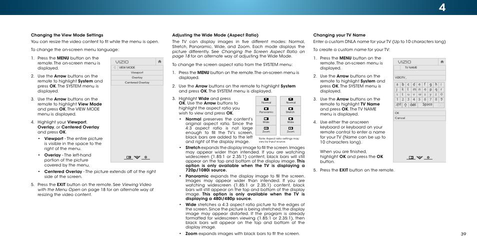 Adjusting, Changing the view mode, Vizio | Vizio M502i-B1 - User