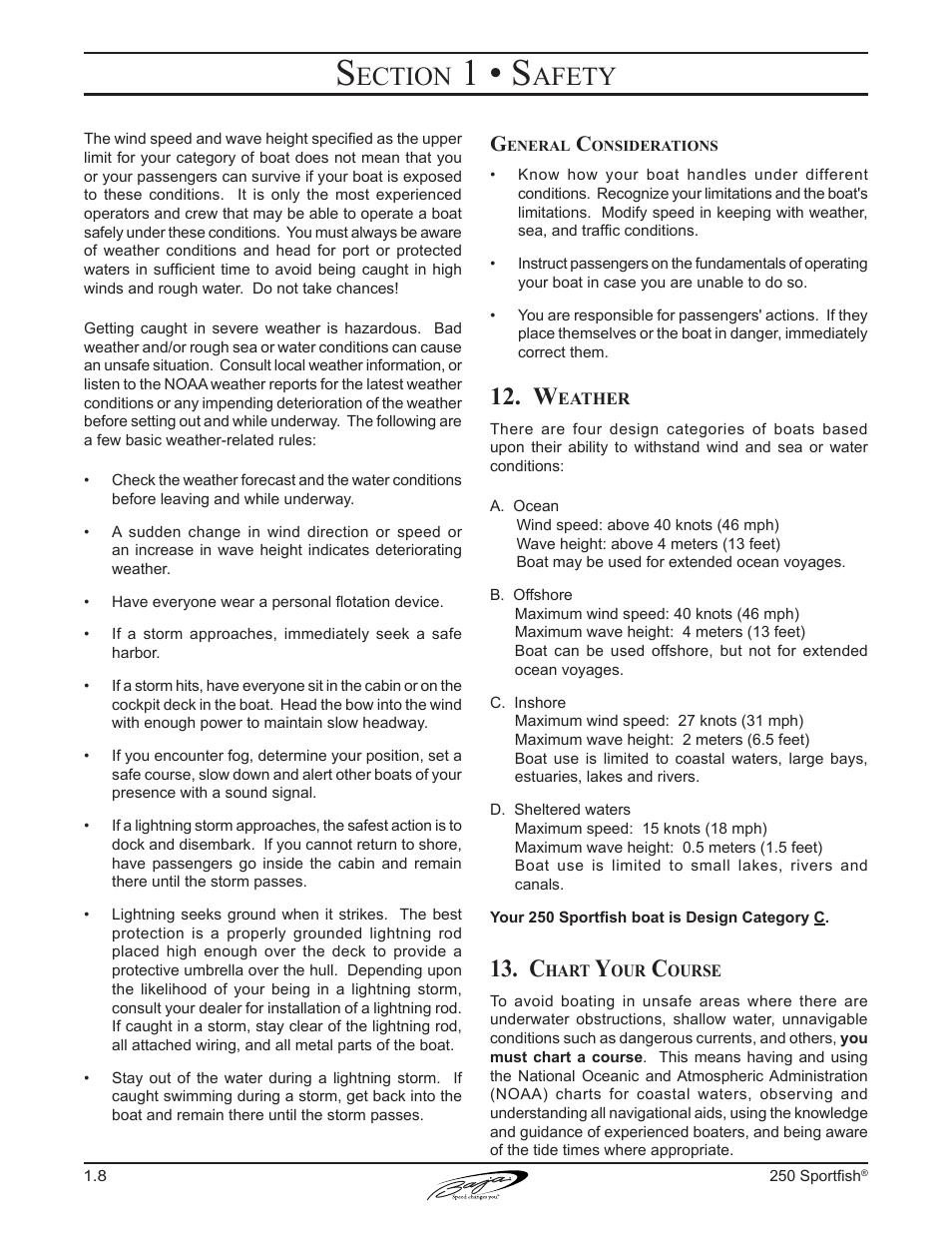 1 u2022 s ection afety baja marine sportfish 250 user manual page rh manualsdir com baja boats owners manual