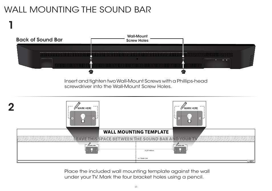 wall mounting the sound bar vizio s4220w e4 quickstart guide user manual page 15   24 user guide for nikon d7000 user manual nikon d7200