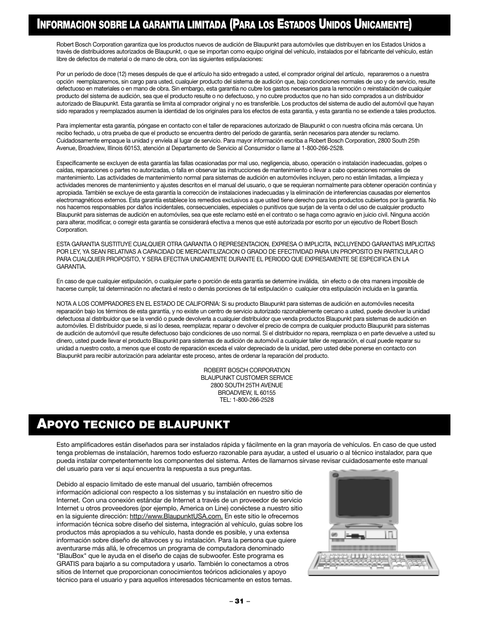 Blaupunkt PCA 250 User Manual | Page 33 / 44