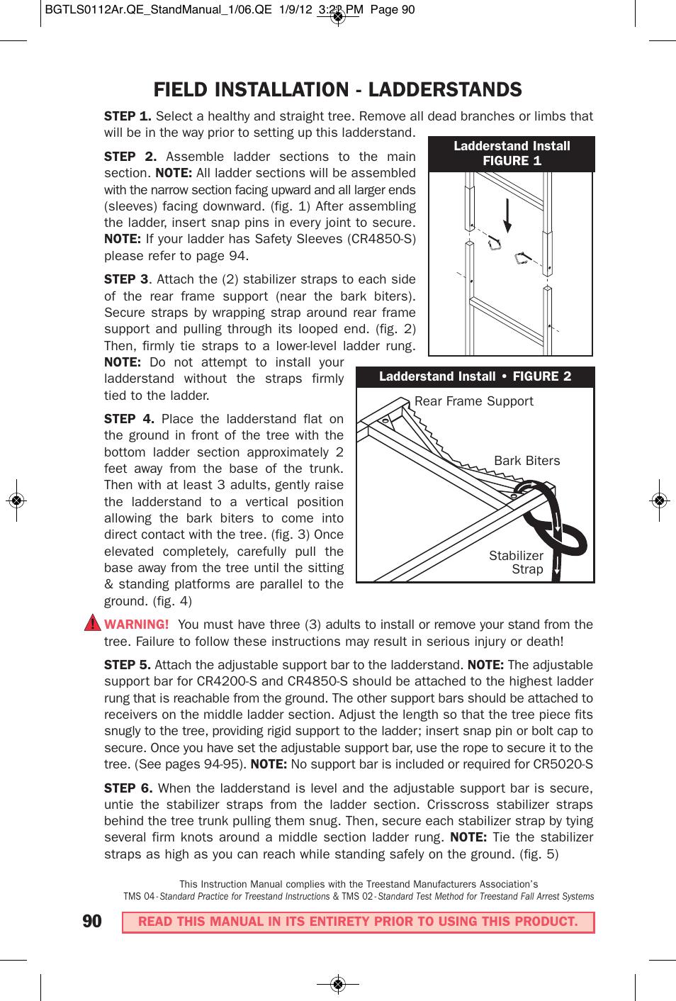 Big game treestands cr4250-s user manual   page 25 / 30   original.