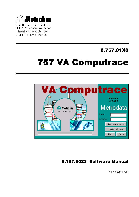 metrohm 757 va computrace user manual 198 pages