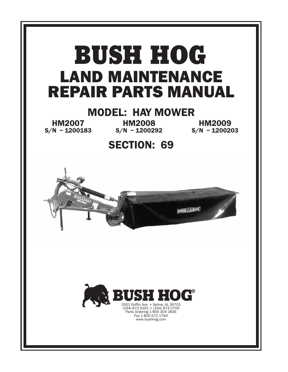 bush hog zt2200 manual