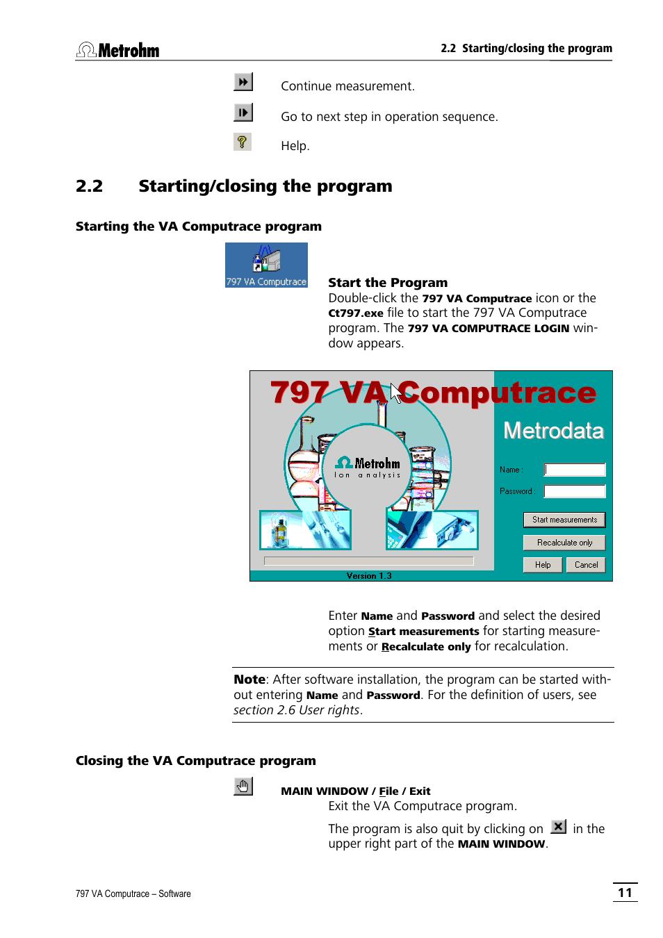 2 starting closing the program starting the va computrace program