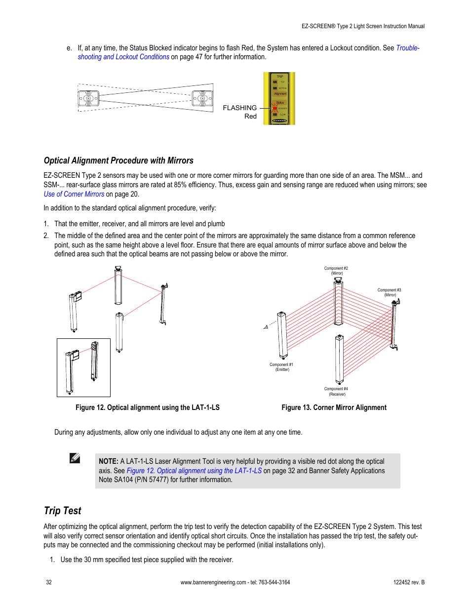 Banner Light Curtain Laser Alignment Tool