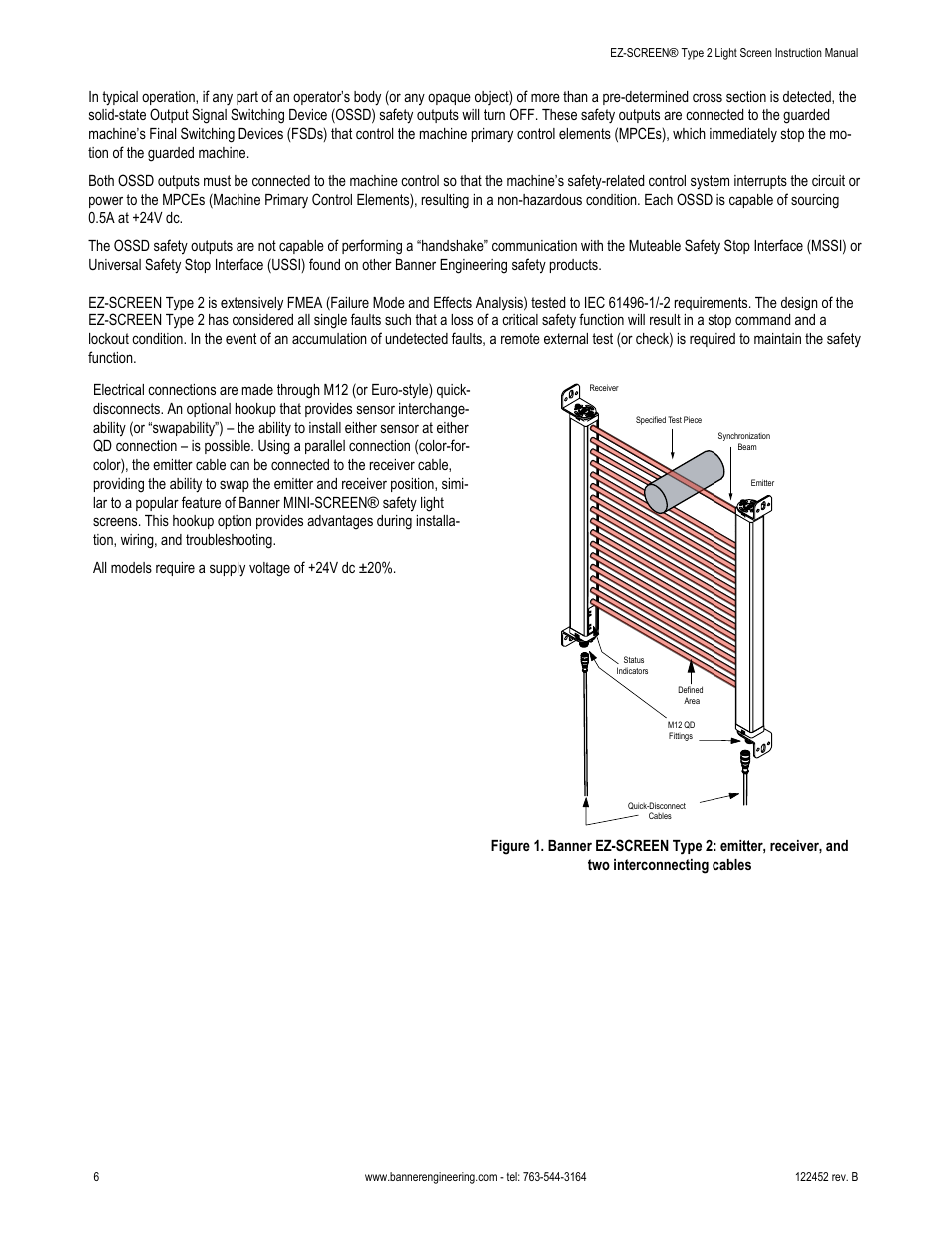 Banner EZ SCREEN Safety Light Curtain Systems User Manual | Page 6 / 71