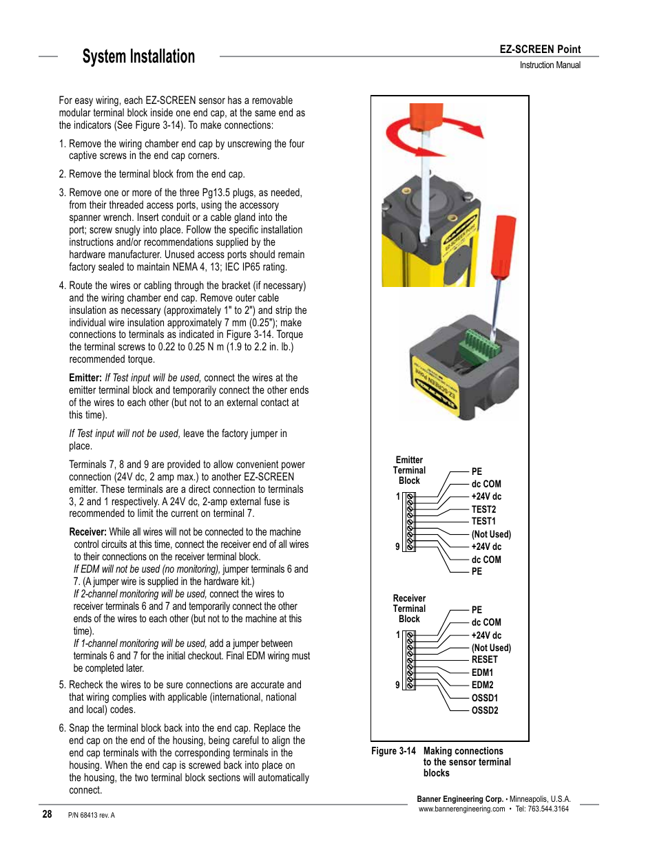 System installation | Banner EZ-SCREEN Safety Light Curtain Systems User  Manual | Page 30 / 60
