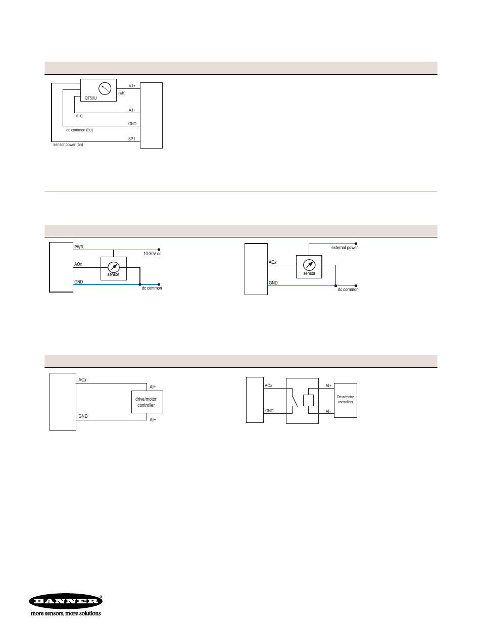 og outputs, og inputs, qt50u long-range ultrasonic sensor ... on banner sensor bracket, banner sensor reflectors, banner sensor cables,
