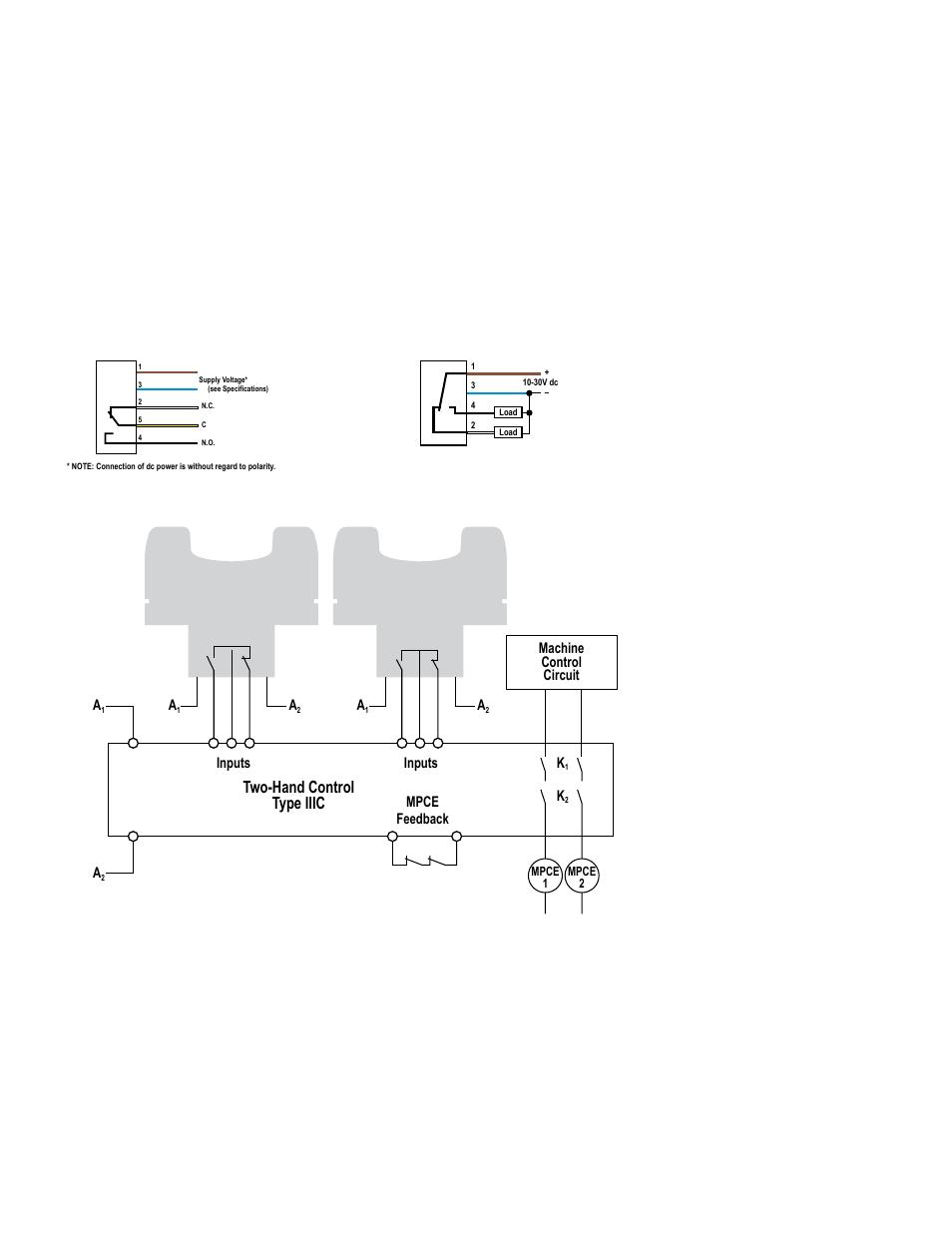 hookup diagrams two hand control type iiic banner duo touch run rh manualsdir com Control Wiring Diagram Symbols Fuel Pump Wiring Harness Diagram
