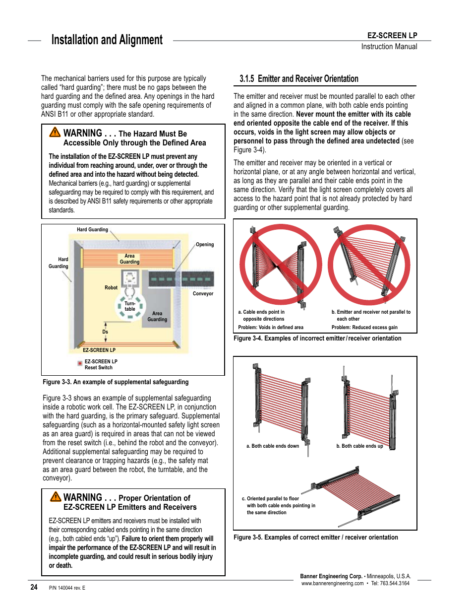 banner ez screen wiring diagram watlow ez zone wiring diagram overview, installation and alignment, 5 emitter and ... #13