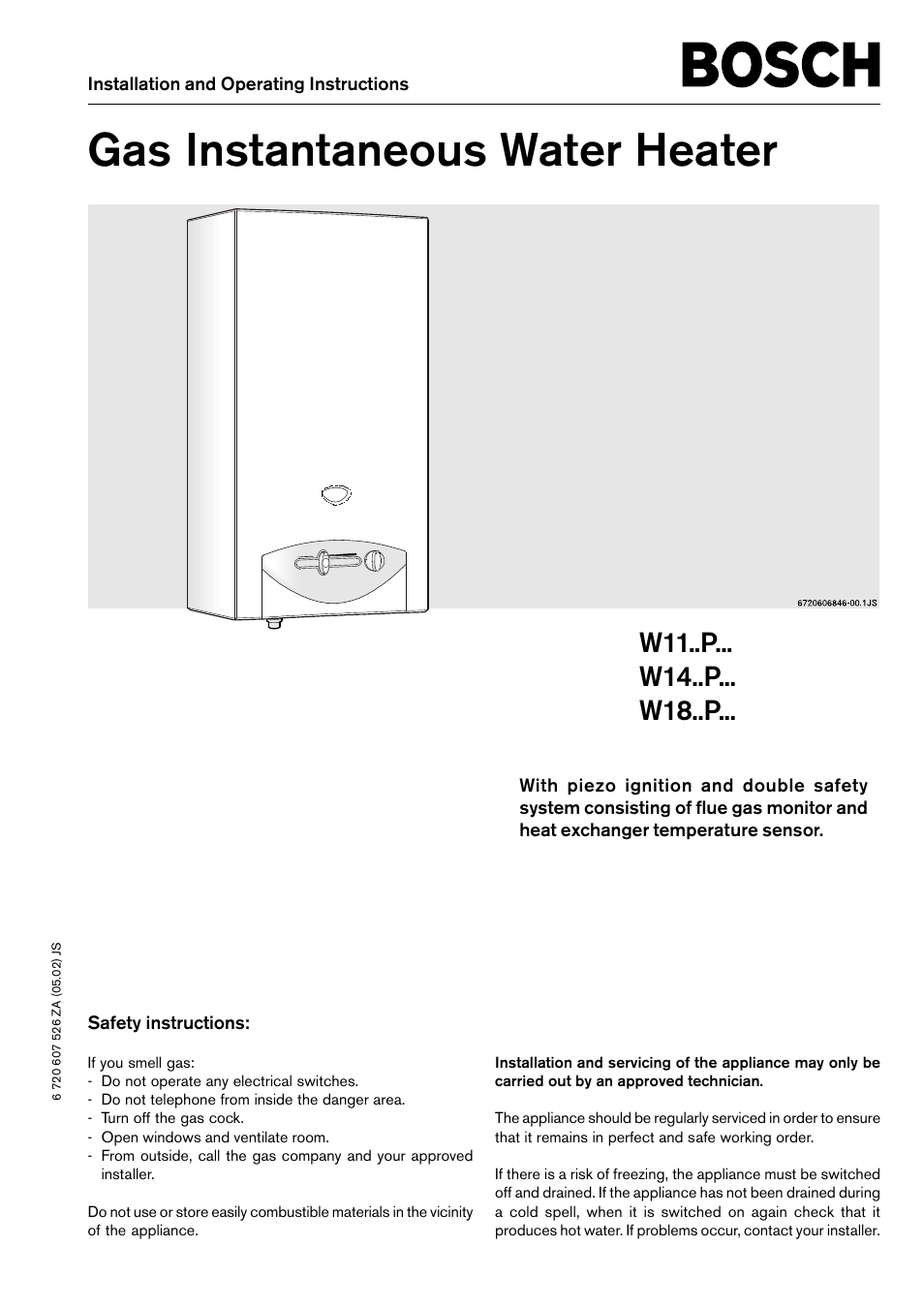 bosch w11p user manual 8 pages also for w14 p w18 p rh manualsdir com Bosch Water Heater Error Codes Bosch Electric Tankless Water Heater