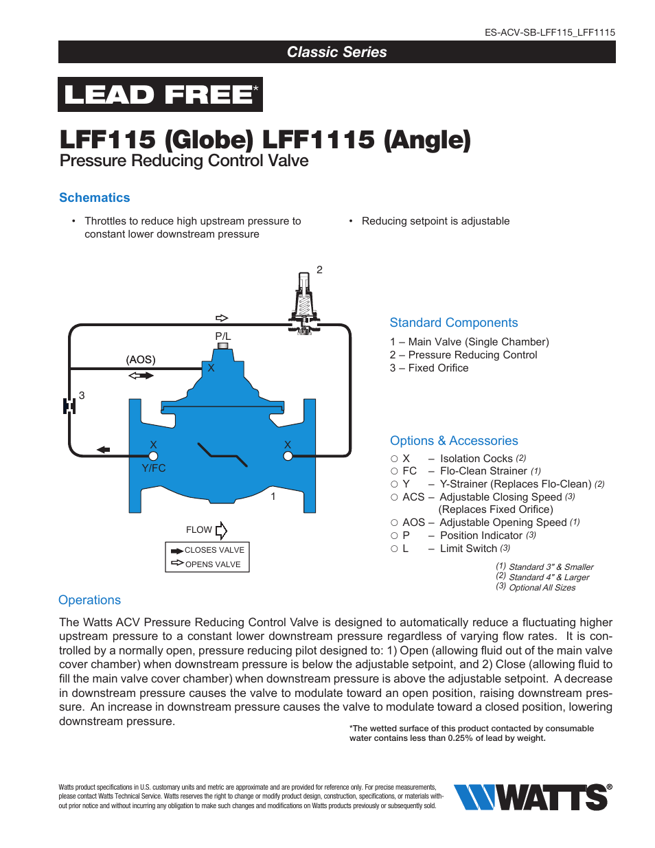 Watts Lff1115 User Manual 8 Pages Also For Lff115
