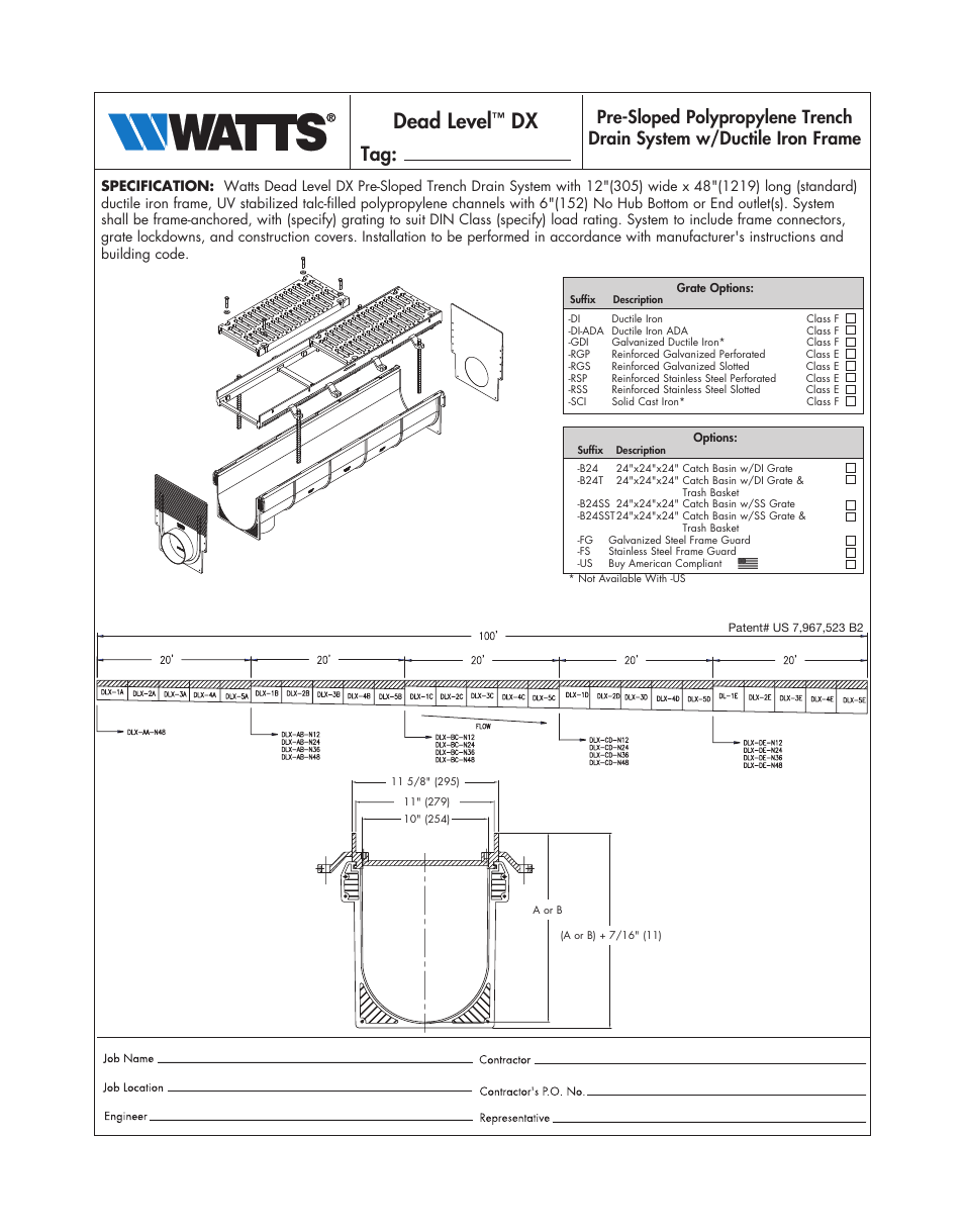 Watts Dead Level Dx User Manual 2 Pages
