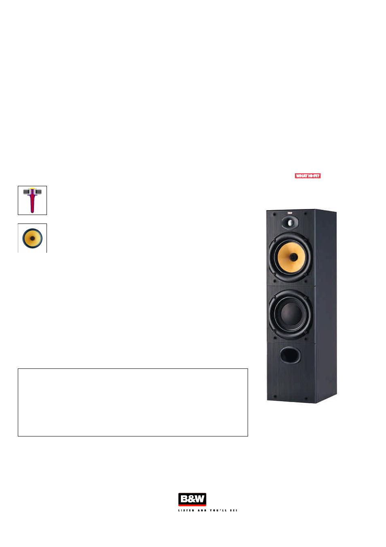 Bowers  U0026 Wilkins 600 Series 2 Dm603 S2 User Manual