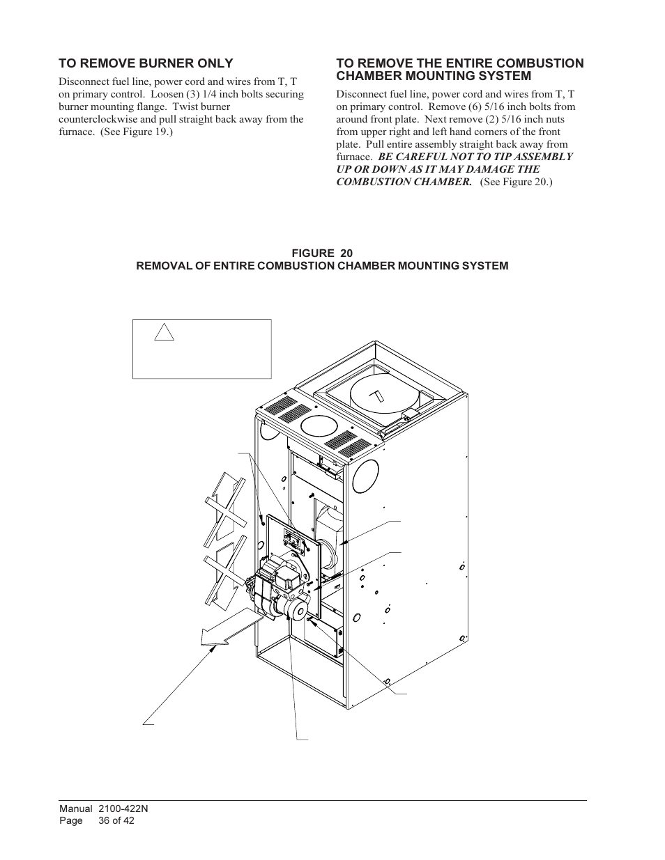 Danger Bard Oil Furnace Flf085d36f User Manual Page 36 42 Burner Wiring