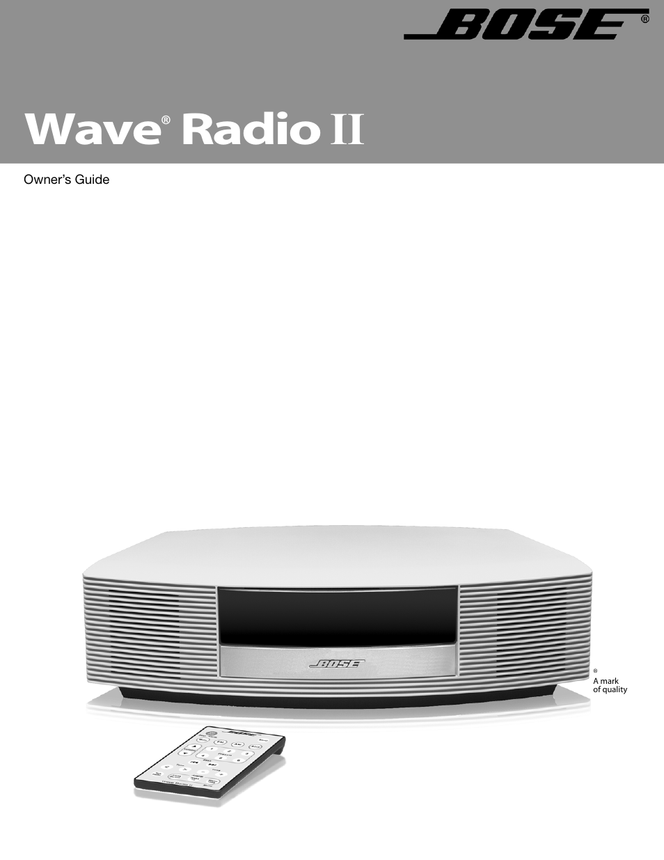 bose wave radio ii user manual 28 pages rh manualsdir com bose wave radio iii owners manual bose radio service manual
