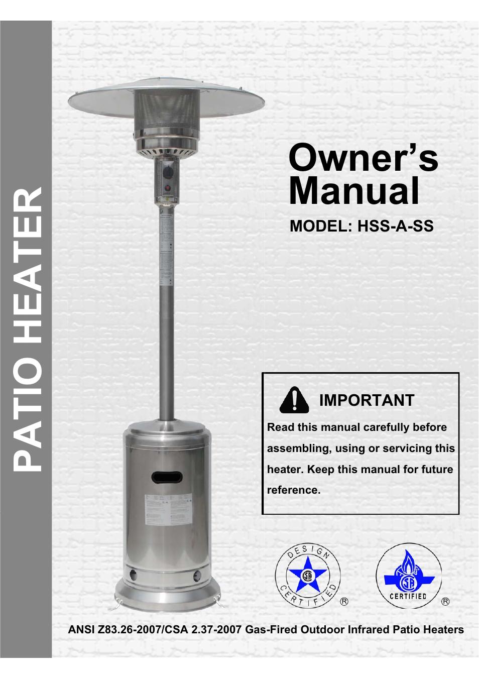 Gardensun Hss A Ss Patio Heater Parts Patio Ideas
