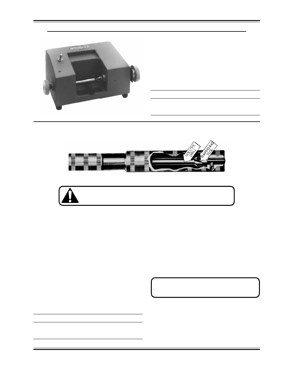 Hollow drill sharpener   GBC MS5 User Manual   Page 13 / 51