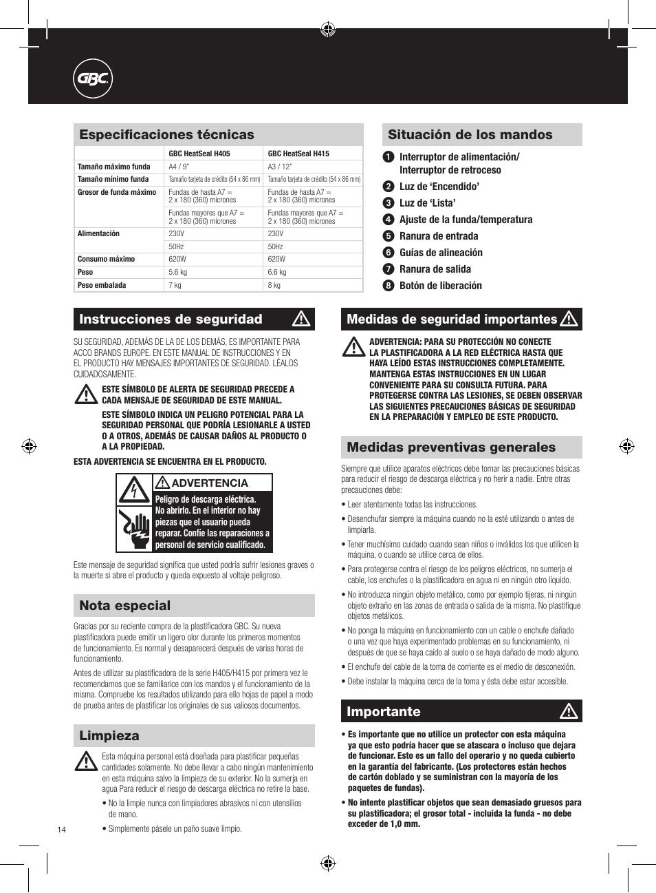 gbc h415 heatseal user manual page 14 38 original mode also rh manualsdir com gbc user manual c400e gbc laminator user manual