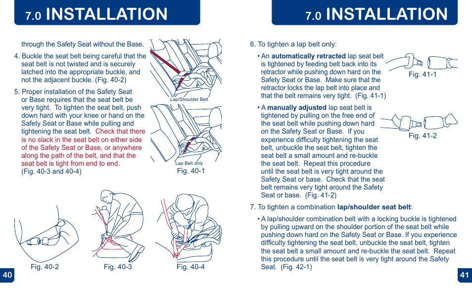 Installation   Baby Trend FLEX-LOC INFANT CAR SEAT E30FL0211U User ...