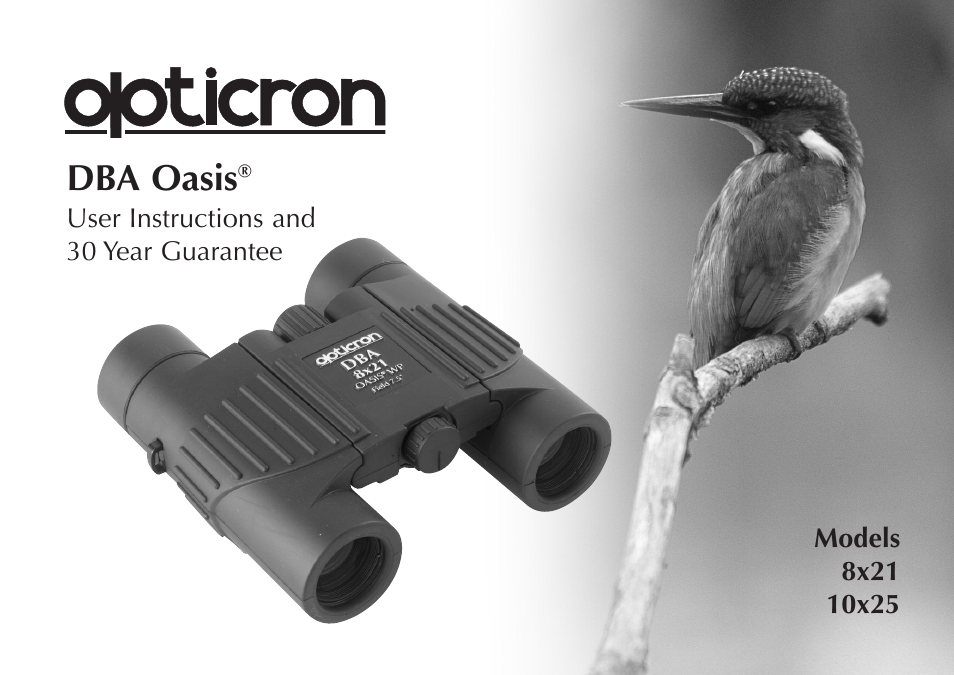 Opticron DBA Oasis User Manual | 8 pages