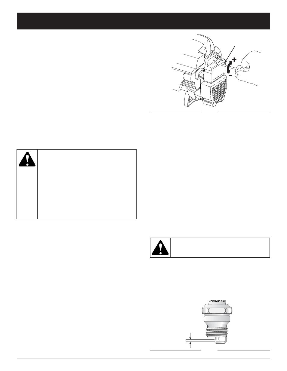 Maintenance and repair instructions   Bolens BL3100 User Manual