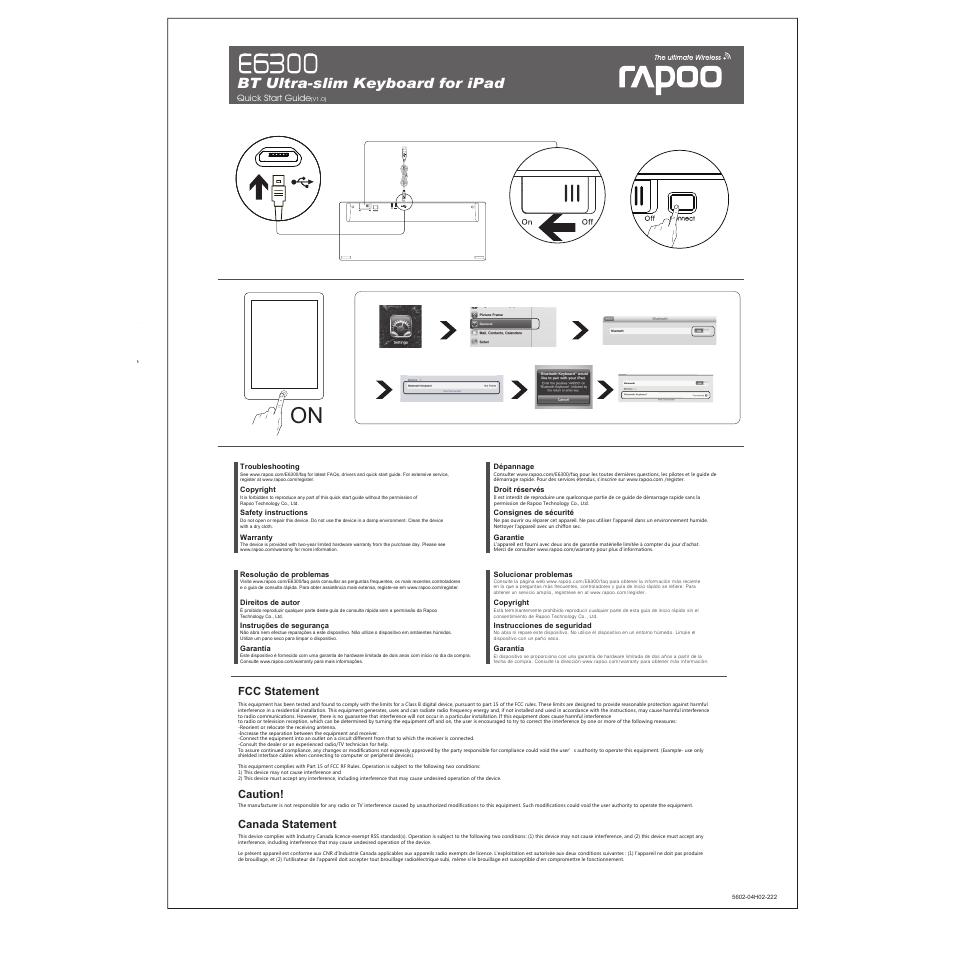 К e6300 rapoo инструкция