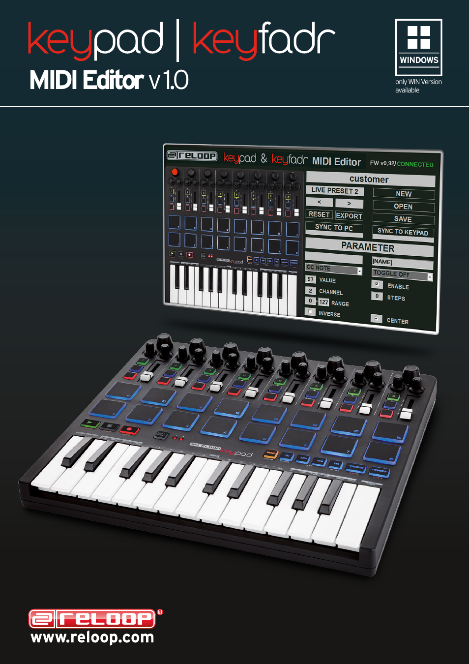 Reloop KEYPAD - MIDI Editor Guide User Manual | 3 pages | Also for