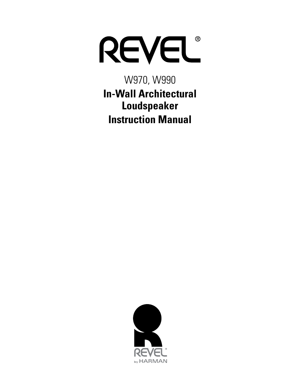 Revel W990 User Manual 9 Pages Also For W970
