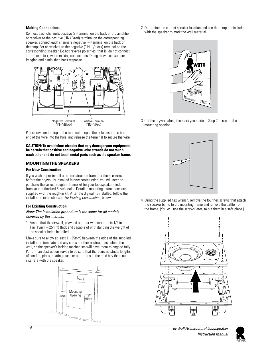 Revel W990 User Manual Page 6 9 Also For W970