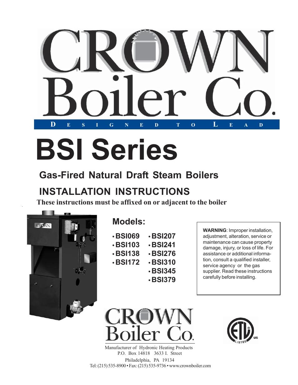 crown boiler bsi172 user manual 54 pages also for. Black Bedroom Furniture Sets. Home Design Ideas