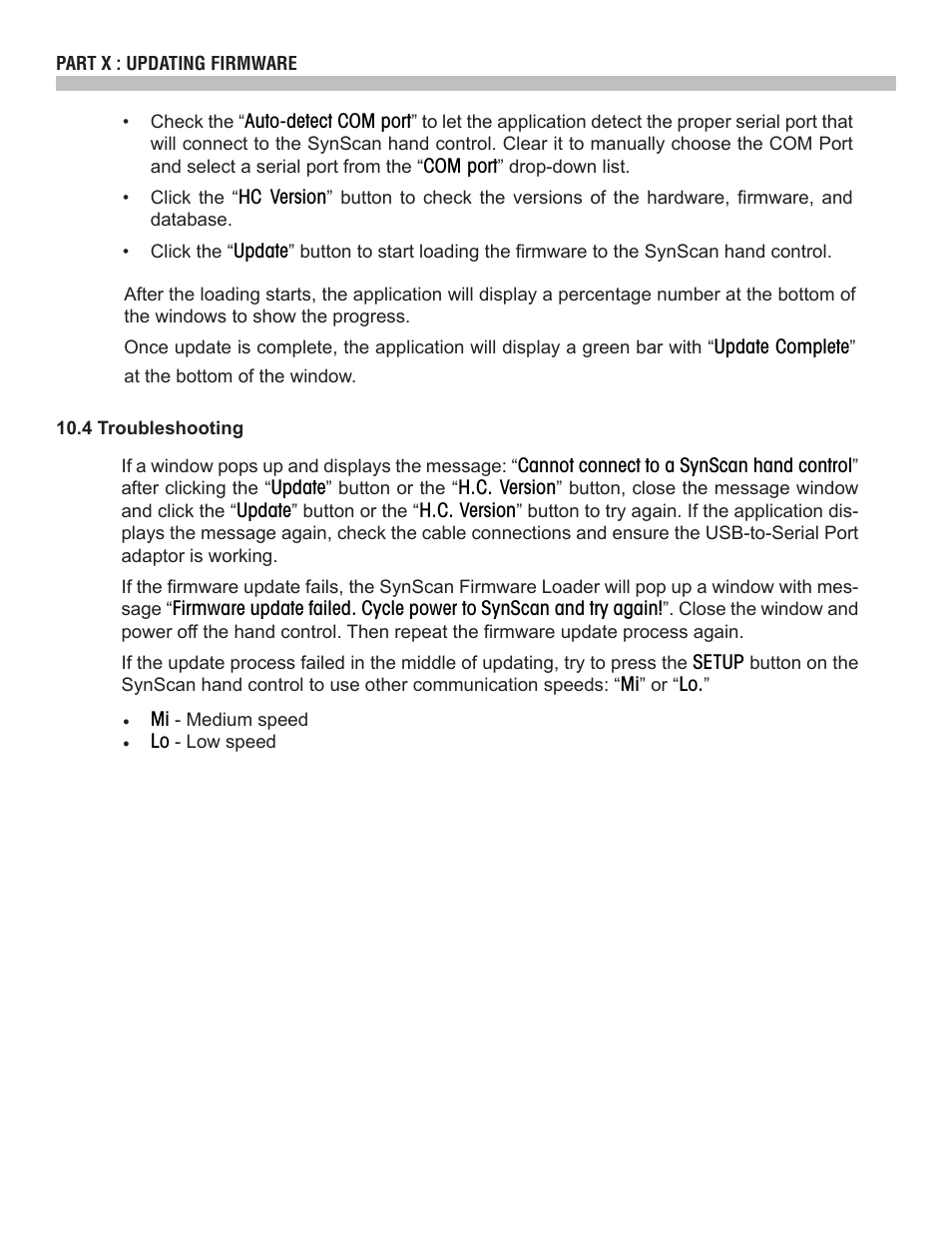 Sky-Watcher SynScan V4 Hand Controller User Manual | Page 33