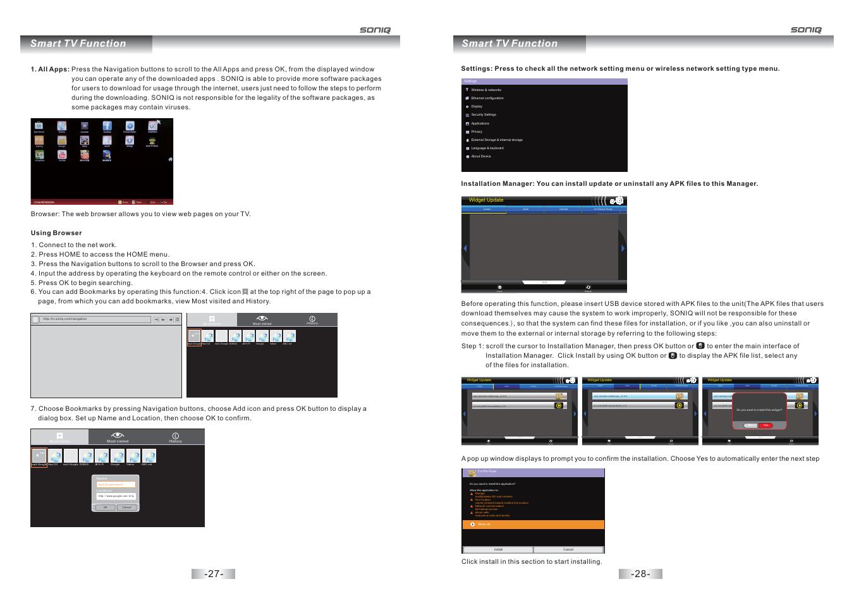 Smart tv function | SONIQ E32S12A User Manual | Page 15 / 25
