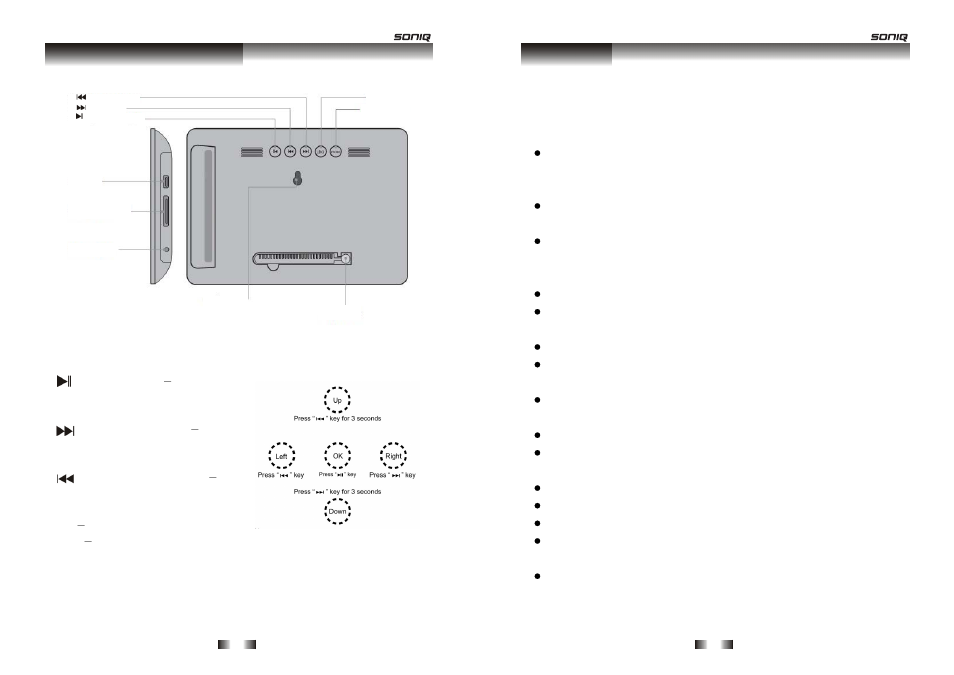 Your digital photo frame, Warnings | SONIQ F700 User Manual | Page 5 / 9