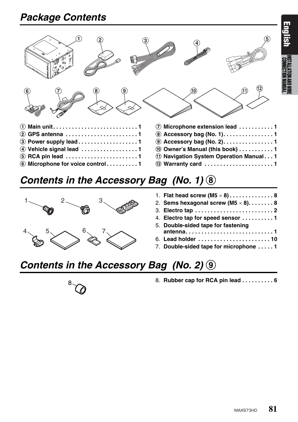 Manual Gps Rca Pin Lucas Cav Injection Pump Diagram On Pinterest Array Package Contents In The Accessory Bag No 1 8 Rh Manualsdir Com