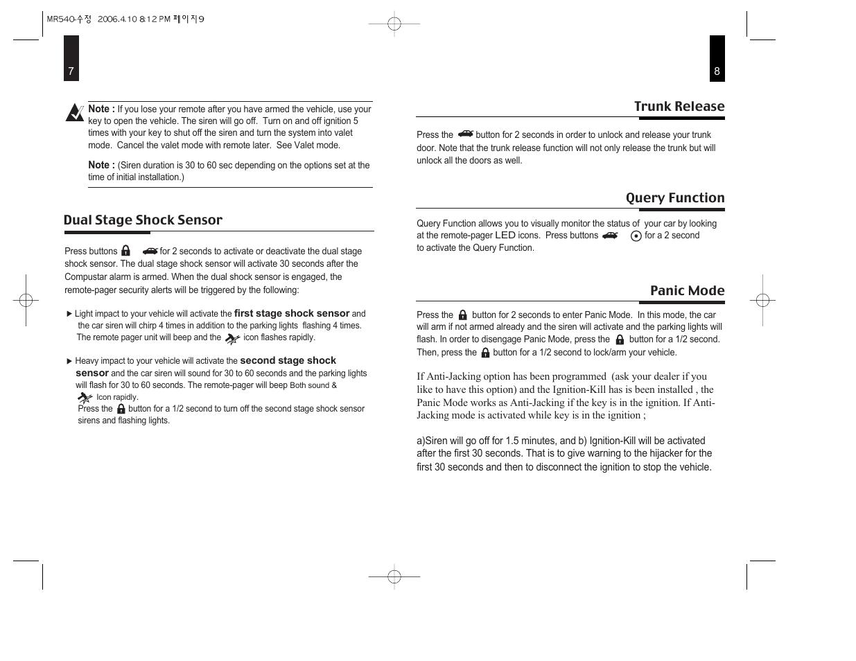 CompuSTAR 2WSHR LED User Manual   Page 5 / 8