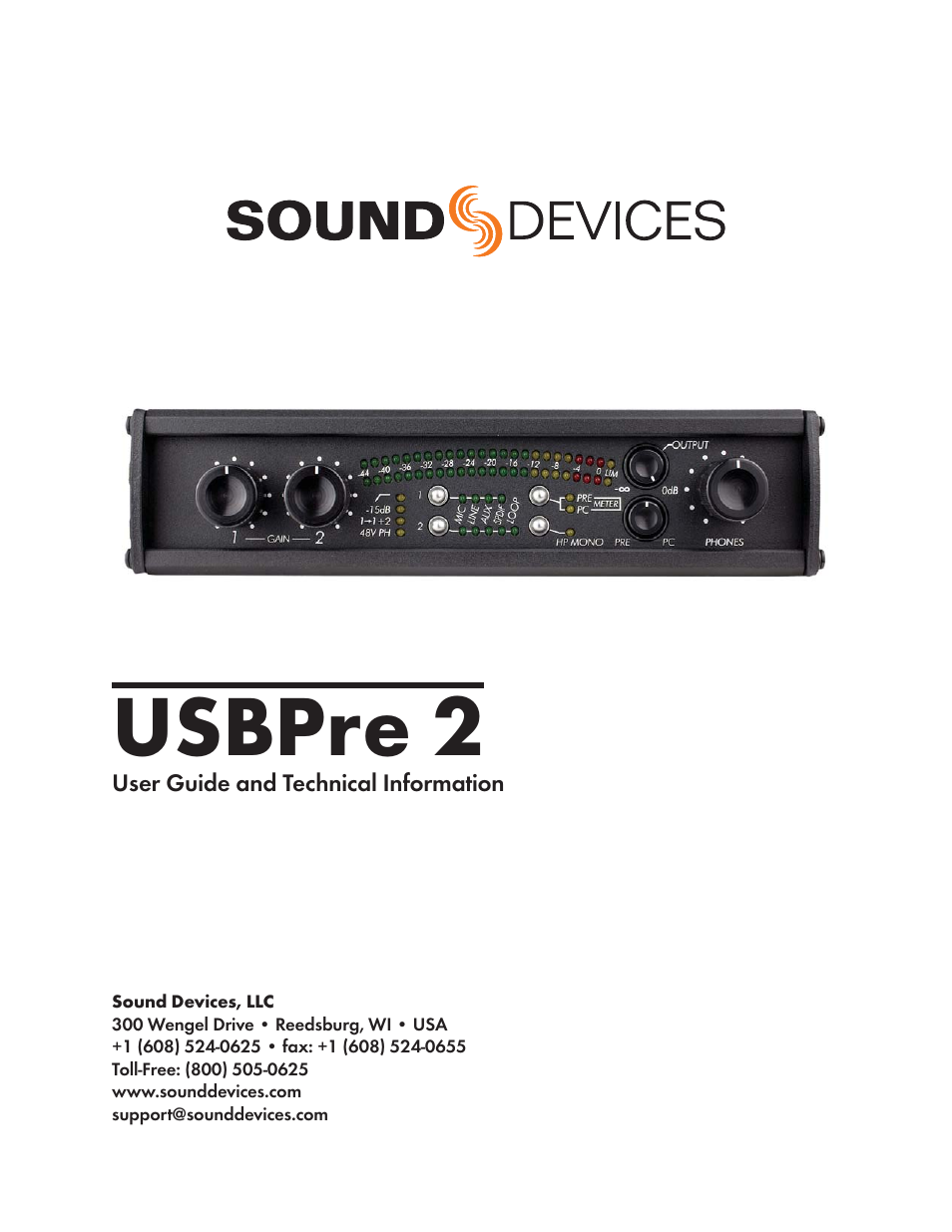Sound devices usbpre 2 – thomann uk.