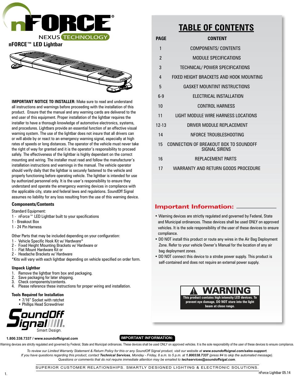 Sound Off Signal Nforce Light Wiring Diagram Diagrams For Soundoff Led User Manual 17 Pages Rh Manualsdir Com