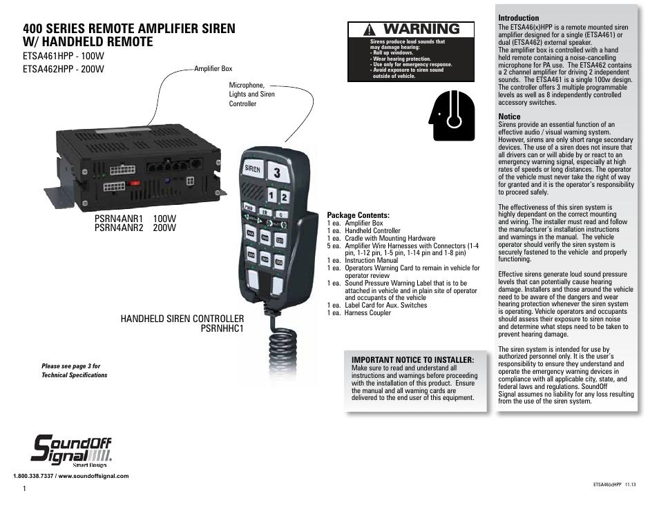 soundoff signal nergy 400 manual