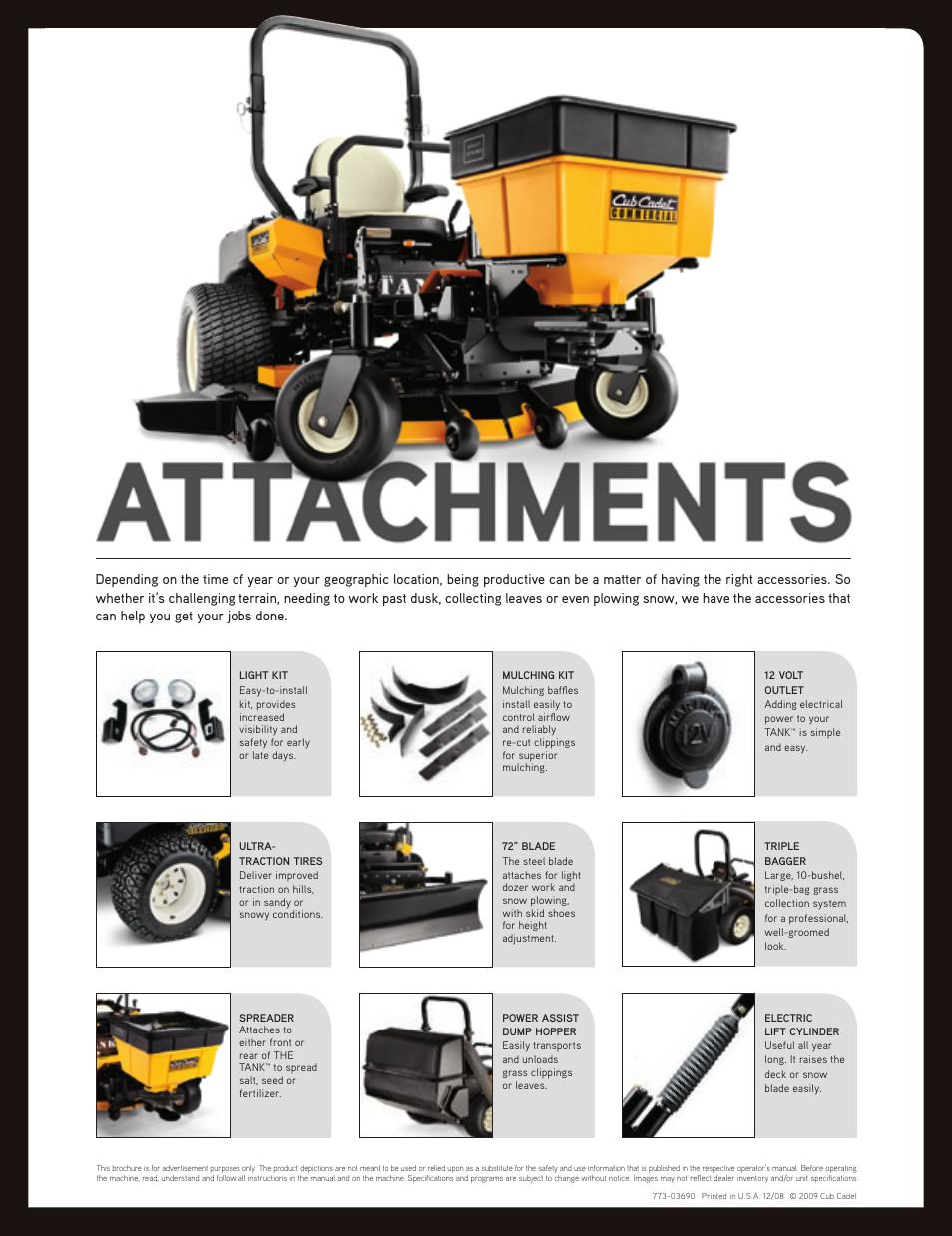 attachments cub cadet the tank m72 user manual page 4 4 rh manualsdir com Yard Man Lawn Mower Manuals Lawn Mower Repair Manual