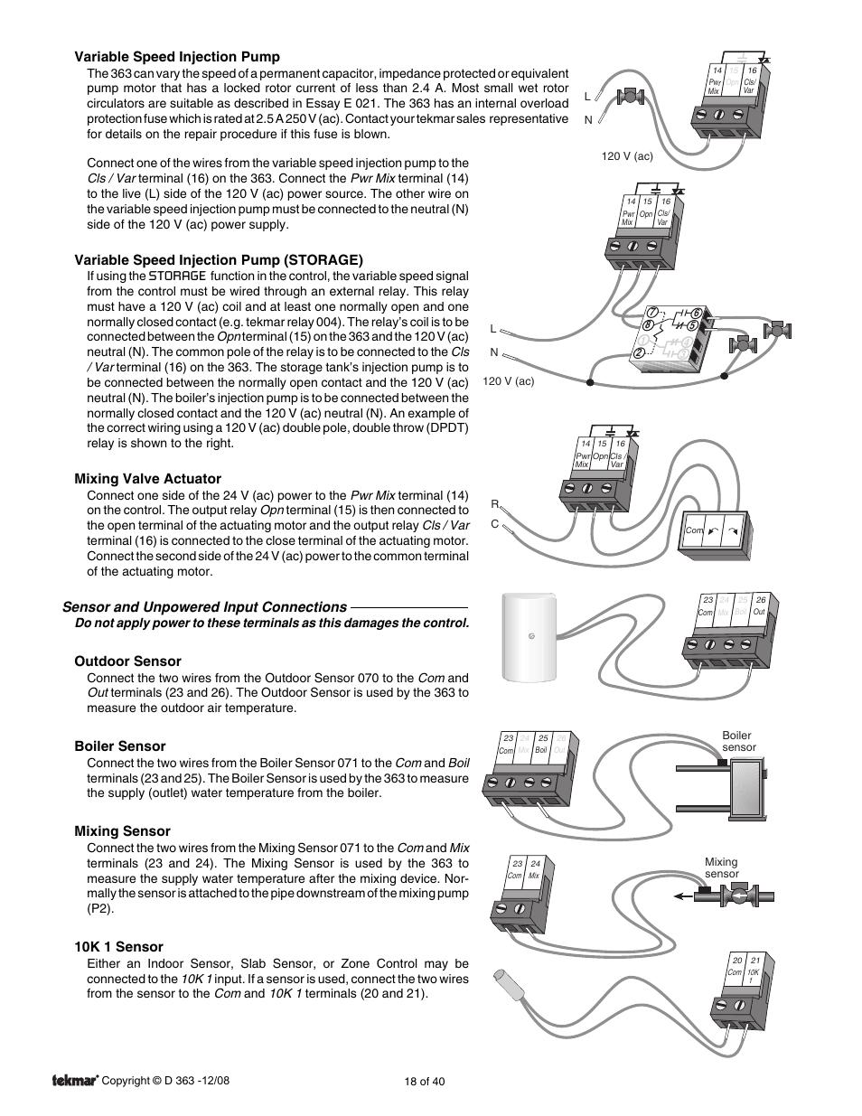 Tekmar 363 Universal Reset Control Installation User