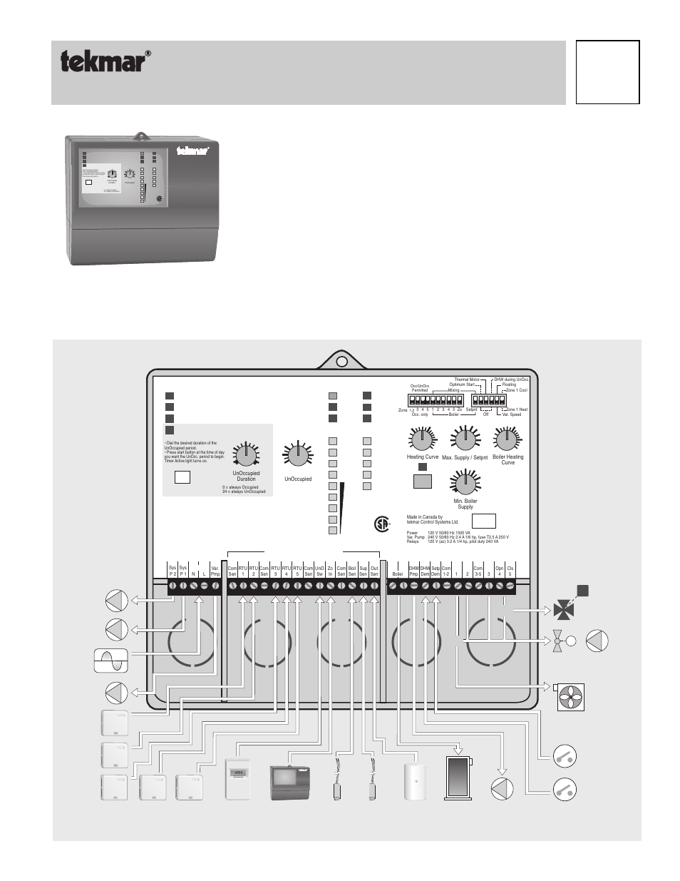 tekmar wiring diagram tekmar 371 house control user manual | 20 pages wiring diagram 2010 e 150