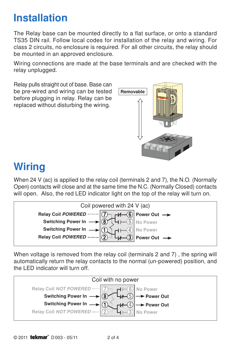 Potential Relay Wiring Manual Guide