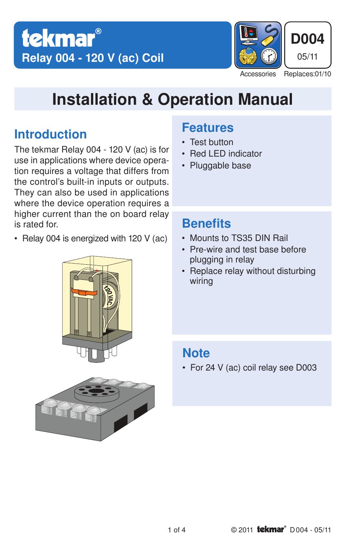 tekmar 004 relay user manual 4 pages rh manualsdir com tekmar 090 wiring diagram tekmar 090 wiring diagram