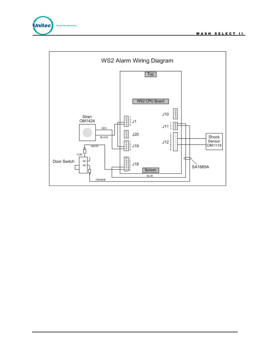 Figure 38  Ws2 Alarm Wiring Diagram