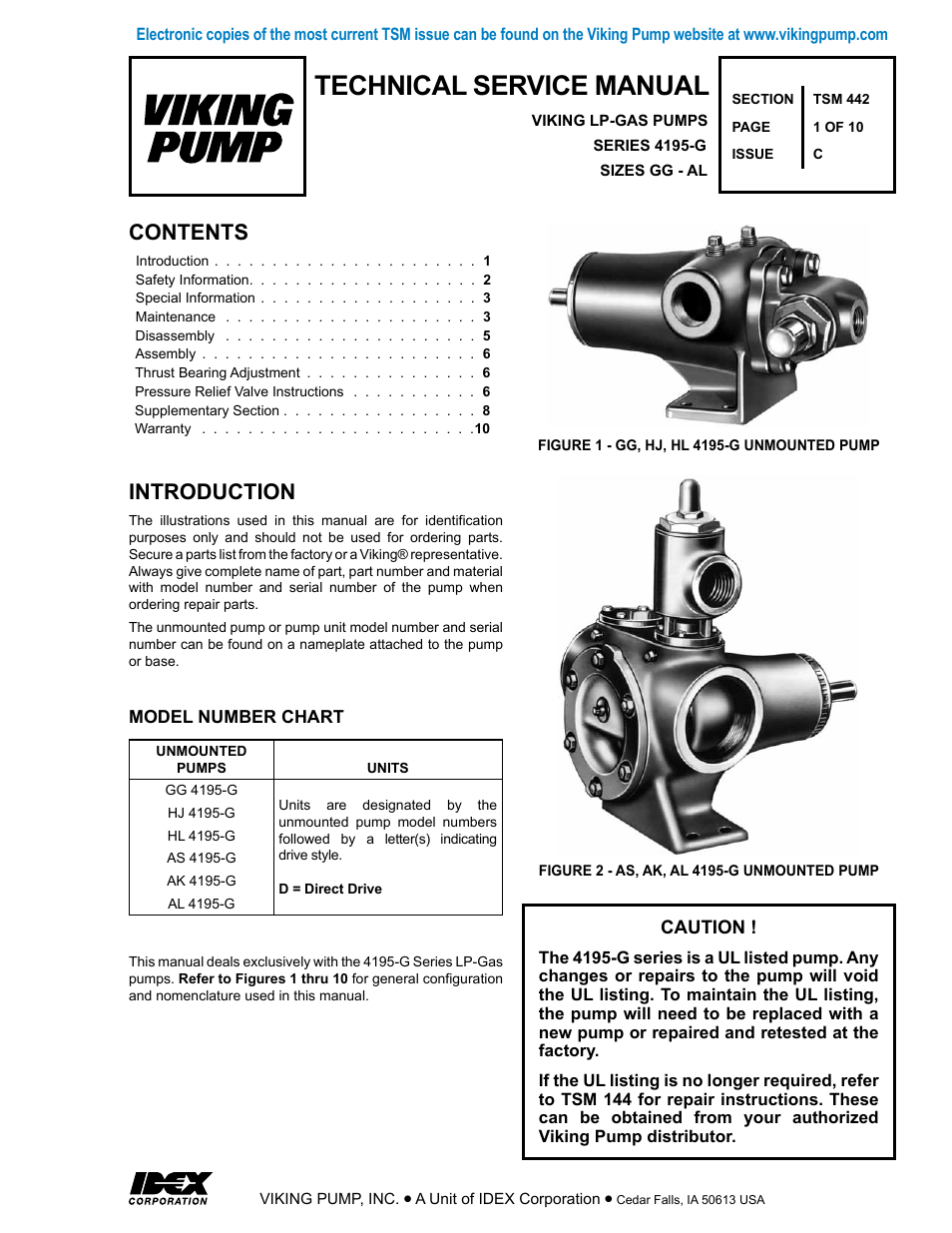Viking Pump Schematic Detailed Wiring Diagrams Diagram 700 434 Gas Valve Tsm442 Gg Al 4195 G Lp User Manual 10 Pages Centrifugal Animation