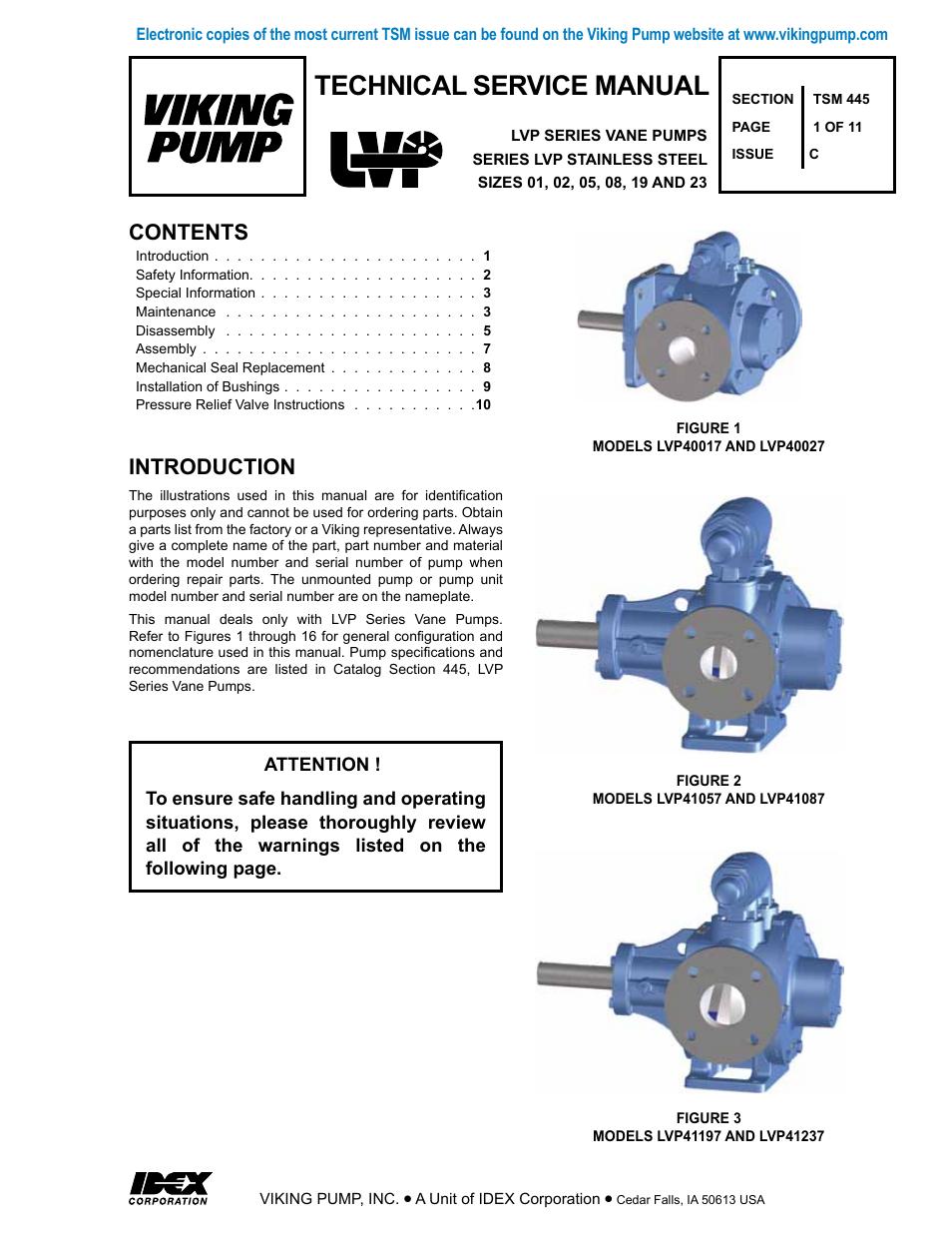 Viking Pump Tsm445 Lvp Vane Pumps User Manual 11 Pages Diagram
