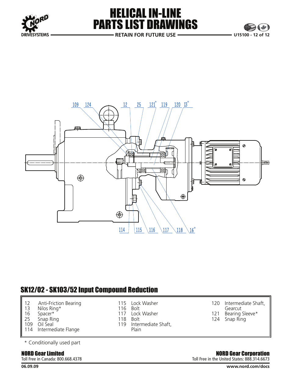 Helical in-line parts list drawings | Viking Pump NORD TSM
