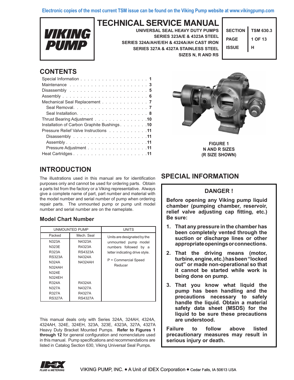 Viking Pump TSM630 3: N-RS Universal Seal User Manual | 13 pages